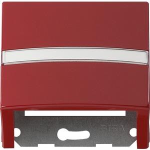 Datenhaube beschriftbar mit Tragring für S-Color rot