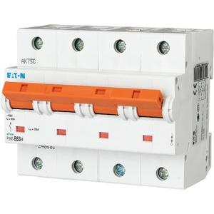 Eaton Leitungsschutzschalter 63A 4-polig D-Char