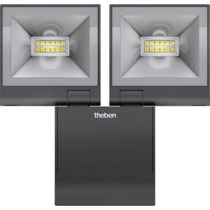 LED-Strahler theLeda S20 L 20W 4000K IP55 schwarz