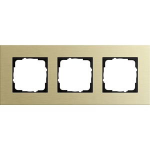 3-fach Abdeckrahmen für Esprit Aluminium hellgold
