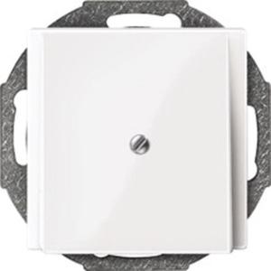 Zentralplatte Leitungsauslass weiß glänzend