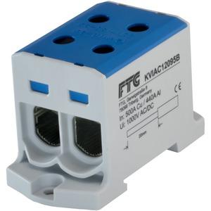 Kompaktaluklemme 1-pol. Cu/AL 6-95mm² 250/200 A 2/2 blau