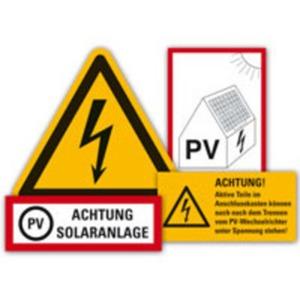 Kennzeichnungs-Set für Photovoltaikanlagen 34 Teile/VE