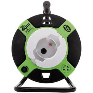 Gerätetrommel leer Kunststoff IP44 für max. 40 m 3G1,5 Kabel schwarz-grün