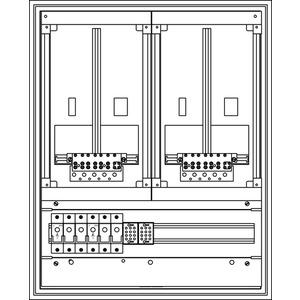 Kunststoff-Zählerverteiler 550x679x225 mm