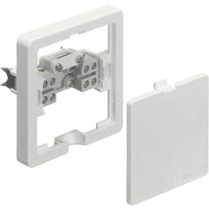 Geräte-Anschlussdose flach Krallenbef. UP weiß 5x2,5mm²