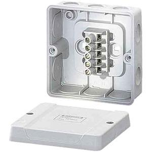 Abzweigdose DE 9345 (98x98x52) IP 55 mit Klemme elast. Einführungen
