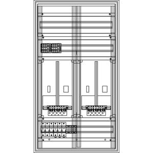 Kunststoff-Zählerverteiler 550x979x225 mm