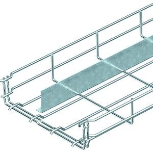 Gitterrinne GR-Magic mit 1 Trennsteg Stahl galvanisch verzinkt 55x500 mm