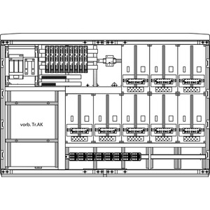 Kabel-Hausanschluss-Zählerverteiler Freistehend 1570x1080x322mm