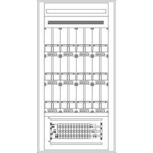 Zählerstandverteiler 1030x2000x300mm