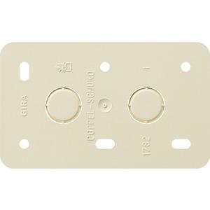 Montageplatte 2-fach Steckdosen Aufputz