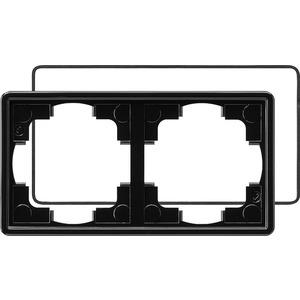 2-fach Abdeckrahmen IP21 für S-Color schwarz
