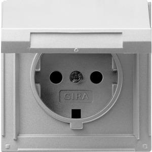 SCHUKO-Steckdose KD für TX_44 (WG UP) Farbe Aluminium