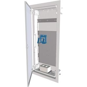 Unterputz Kleinverteiler Multimedia mit flacher Stahlblechtür 4-reihig