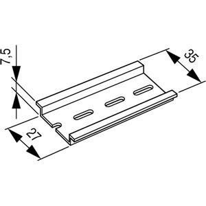 Hutschiene 35x7,5mm TS35X7,5