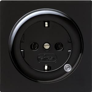 SCHUKO-Steckdose mit Beleuchtung für S-Color schwarz