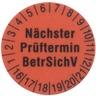 Prüfetiketten 15 mm ROT - VPE = 250 Stück
