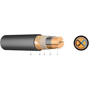 PVC Kupfer-Erdkabel mit konzentr. Leiter NYCWY 3x120 SM/120