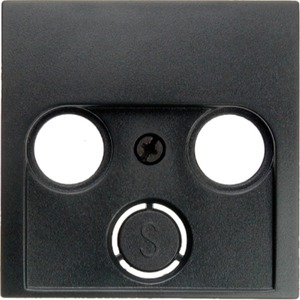 Zentralstück für Antennen-Steckdose 2- und 3-Loch Glas anthrazit