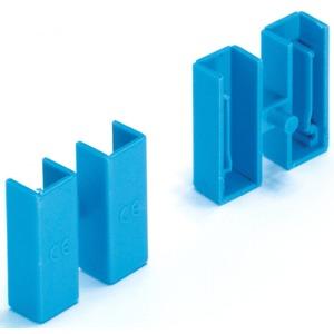 Endkappe für 1-polige Phasenschienen EVB blau paarweise