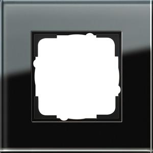 1-fach Abdeckrahmen für Esprit Glas schwarz