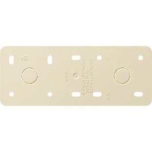 Montageplatte 3-fach Aufputz cremeweiß