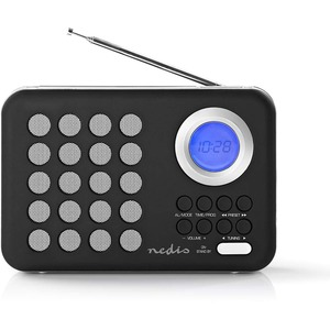 Radio Portable UKW USB microSD Uhr und Alarm RDFM1310WT