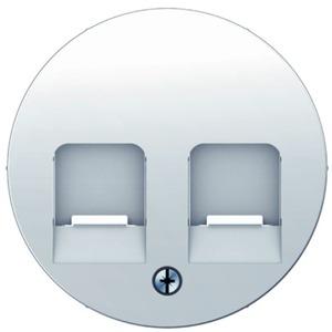 Zentralstück mit 2 Staubschutzschiebern R.1/R.3 polarweiß glänzend