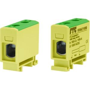 Kompaktaluklemme 1-pol. Cu/AL 1,5-50mm² 160/125A 1/1 gelb-grün