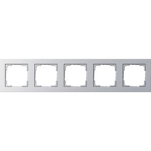 5-fach Abdeckrahmen für E2 Farbe Aluminium