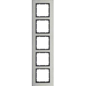 Rahmen 5-fach waagrecht E-St B.7 Edelstahl/anthrazit