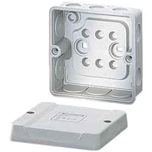 Abzweigdose DE 9340 (98x98x52) IP 55 ohne Klemme elast. Einfürungen