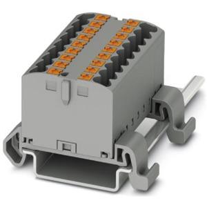 Verteilerblock waagrecht 18 x 2,5mm² schwarz/gelb