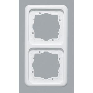 Abdeckrahmen 2-fach Weiß waag/senkrechte Montage 151,5 x 80,5 mm