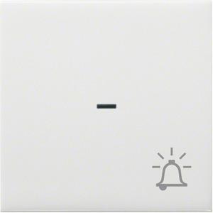 Wippe mit Kontrollfenster und Klingel-Symbol brillantweiß