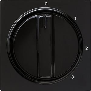 Gira Abdeckung Knebel 3-Stufen 0/1/2/3 für S-Color schwarz