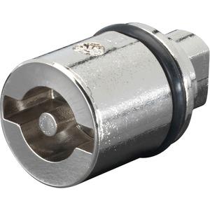 Verschluß-Einsatz Ausführung A L=27mm Doppelbart 3 mm