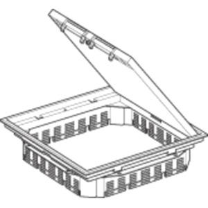 Deckelsatz Quadratisch Alu Markierrand