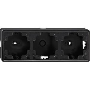 Aufputz-Gehäuse 3-fach für S-Color schwarz