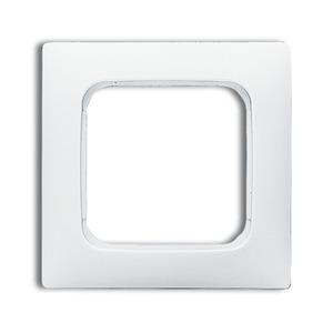 Abdeckrahmen 1-fach Linear-102 weiß glänzend Reflex SI