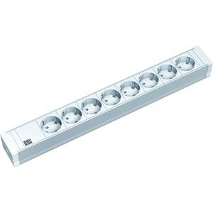 Steckdosenleiste 8 fach lichtgrau 2 m Zuleitung