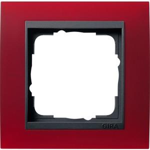 1-fach Abdeckrahmen für anthrazit Event Opak rot