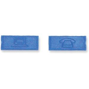 Kennzeichnungs-Ikon Computer / Telefon blau RAL 5015