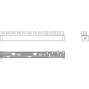 Phasenschiene 1xFI-4P/1xLS-3P+N/4xLS-1N(Schmalbau 1TE)=12TE