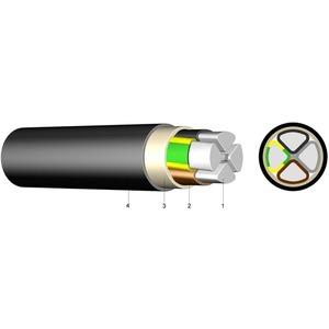 PVC Aluminium-Erdkabel E-AYY-J 4x50 SM