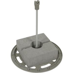 DEHNIso-DLH-Set +Grundplatte Betonstein,Distanzstab s= 15cm