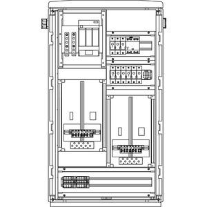 Freileitungs-Hausanschluss-Zählerverteiler Freistehend 590x1065x322mm