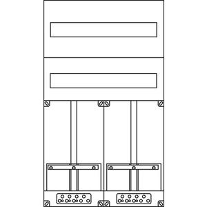 Kunststoff-Zählergerüst 420x720x77 mm