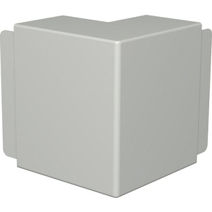 Außeneckhaube 80x170mm PVC cremeweiß RAL 9001